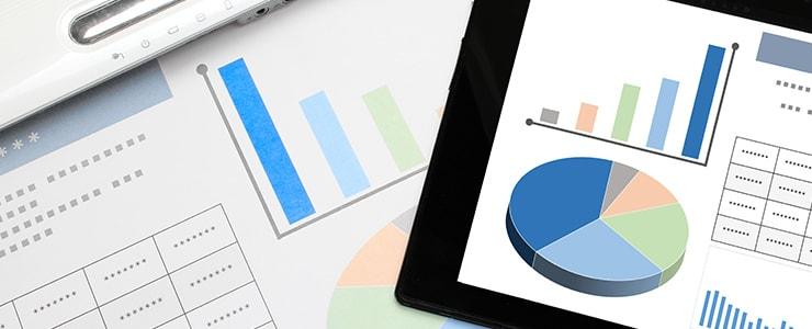 企業の経営状況を示すデータ