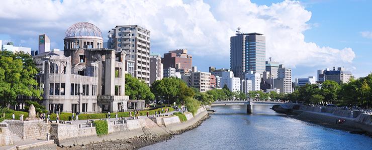 広島原爆ドームの風景