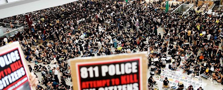 デモが続く香港