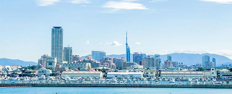 福岡県の街並み