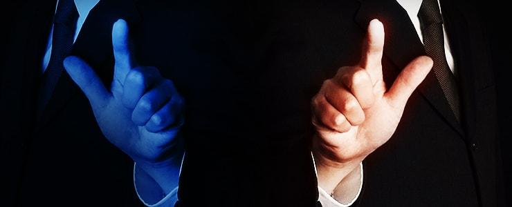 良い業者と悪い業者イメージ