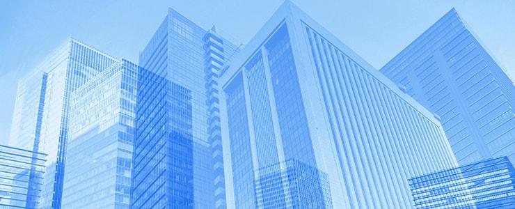 立ち並ぶビルの背景