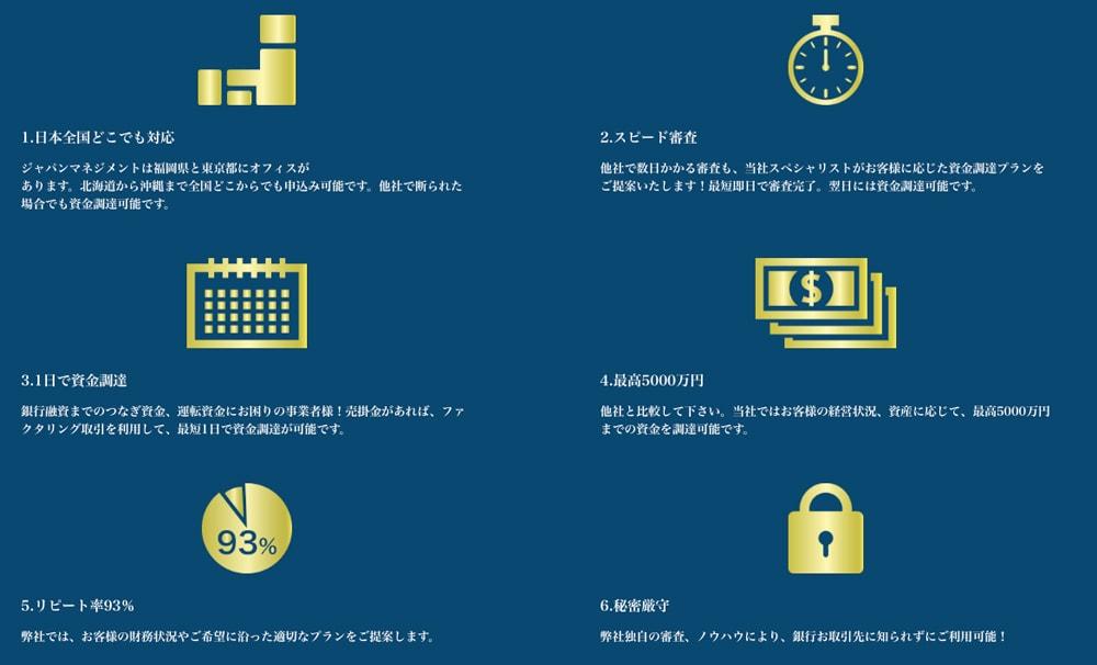 ジャパンマネジメントのファクタリング