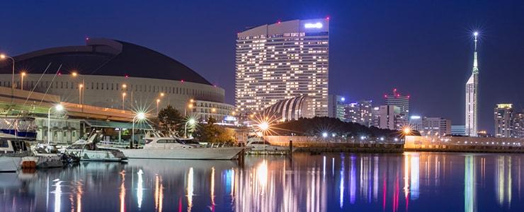 福岡県のオフィス街の夜景
